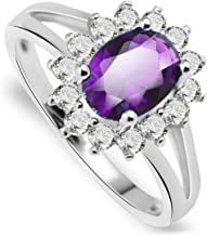 Anni Coco Women Lady Girl White Gold Plated Ring Cubic Zirconia CZ Wedding Jewelry