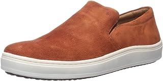 Brothers United Men's Leather Luxury Slip on Venetian Sneaker
