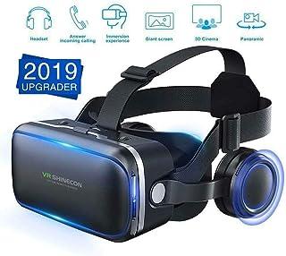 ACHICOO VRメガネ 3Dガラス VR箱ゴーグル バーチャルリアリティ ヘッドホーン iPhone Samsung用 人間の特徴をもつ