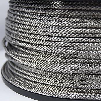 Profi Stahlseil V2A Edelstahl oder verzinkt 1,2,3,4,5,6,10,11 mm 5 10 15 20 30 m