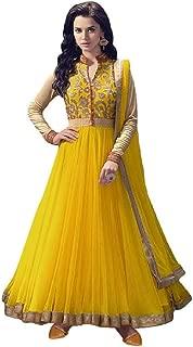 Karva Fashion Women Georgette Long Anarkali Salwar Suit/Gown With EMBROIDERY Dupatta13