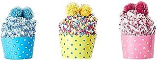 GHTGHTS, 3 Pares de Calcetines de Invierno para Cupcakes, de la Marca Lightses, cálidos, de Terciopelo Coral, con Pompones