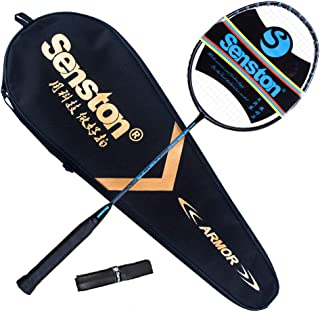 Senston X310 Graphite Badminton Racket New String Protected Technology Single High-Grade Badminton Racquet with Racket Cover and Overgrip