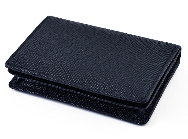 極上レザー 本革 カードケース 大容量 名刺入れ BOX付き ネイビー ME0034_c4
