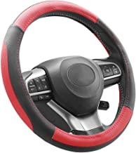 Hyperia Microfiber Leather Steering Wheel Cover 37 – 39 cm (Red+Black)