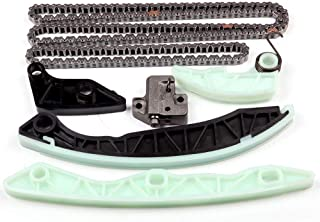 SCITOO HJ-39146-CH-1 Timing Chain Kit Tensioner Guide Rail Oil Pump Chain fits for 07- Mitsubishi Lancer EVO X CZ4A 4B11T EVOLUTION 2.0L Turbo