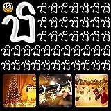 Crochet de Lumière de Noël 150pcs Clips de Lumière de Noël Mini Clips Crochets de...