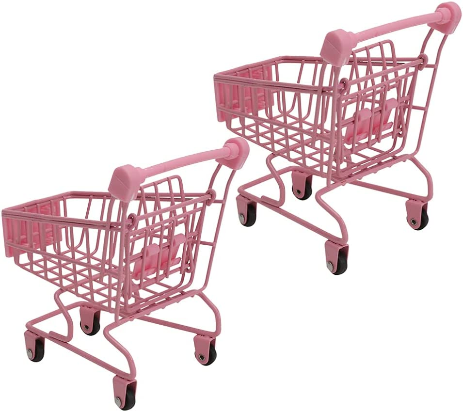 Max 77% New Shipping Free Shipping OFF YARDWE Mini Supermarket Handcart Metal Sh Cart Toy Shopping