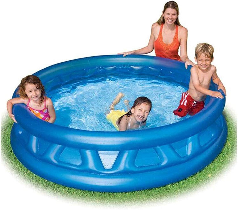 LYM & aufblasbarer Pool Faltbarer Swimmingpool Badefamilie Kinder Schwimmen im Freien Kindergarten Badewanne Freibad Pool aufblasbar