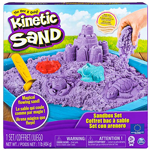 Kinetic Sand 6028092 - Sand Box Set lila
