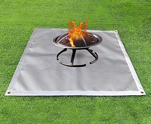 AncaSuna Fire Pit Mat for Outdoor Patio and Deck Protection- Heat Resistant Shield Fire Pit Mat for Grass, Concrete, and Wood Floor with Fire ant Material (39x39 Inch Square)
