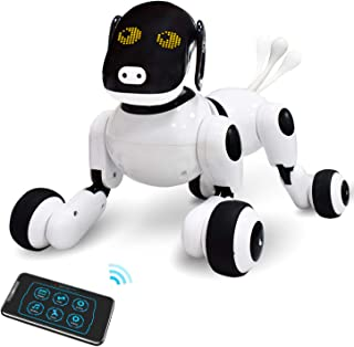 Contixo Puppy Smart Interactive Robot Pet Toy Dance Robot Birthday Gift for Boys, Girls Voice, App, and Touch Controlled with Singing, Dancing, Repeating Best Gift