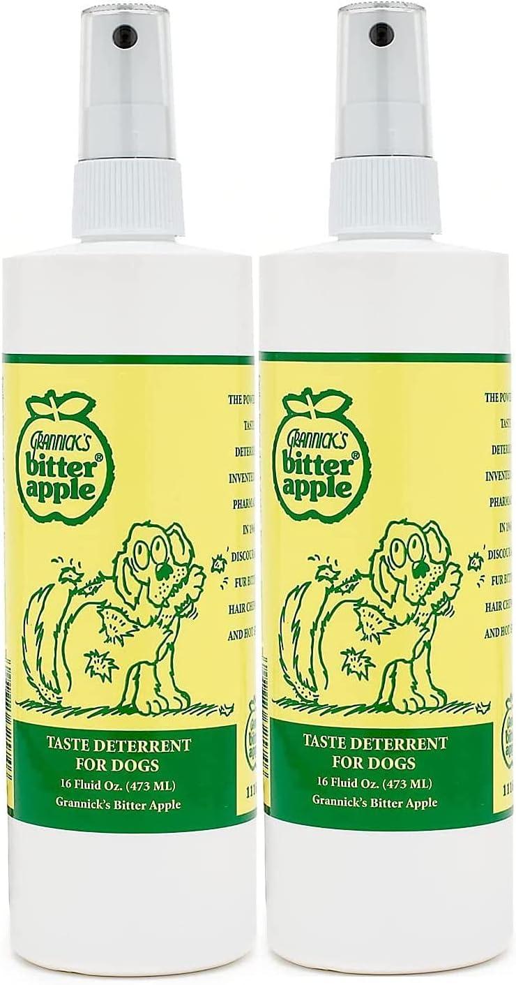 Grannicks Bitter Apple Deterrent for Dogs (2 Pack)