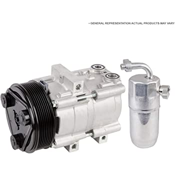 BuyAutoParts 60-89442R2 New For Ford F-150 F150 V6 2011 2012 2013 2014 AC Compressor w//A//C Drier