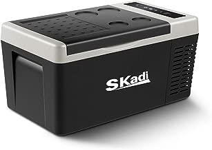 Skadi 19 Quart 12v DC Portable Freezer Car Refrigerator Car Fridge Vehicle Compact Fridge for Truck and Home, Touring and Fishing trips-12V/24V DC and 110V AC Both use