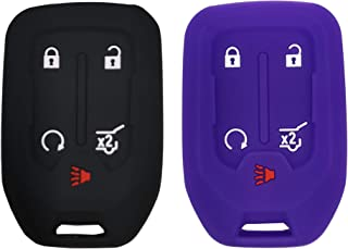 2 Pcs Smart Key Fob Cover Case Protector Fit for GMC Acadia Terrain Yukon Chevrolet Suburban Tahoe Keyless Entry Remote Fo...