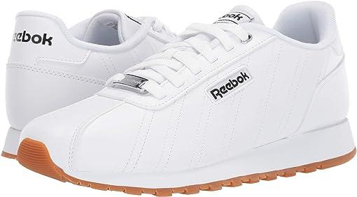 White/Black/Reebok Rubber Gum 6