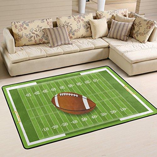 naanle Sport rutschfeste Bereich Teppich für Dinning Wohnzimmer Schlafzimmer Küche, 50x 80cm (7x 2,6m), American Football-Kinderzimmer-Teppich Boden Teppich Yoga-Matte, multi, 60 x 90 cm(2' x 3')