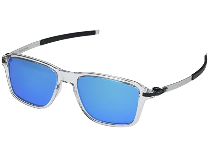 Oakley  54 mm Wheel House (Polished Clear Frame Prizm Sapphire Lens) Fashion Sunglasses