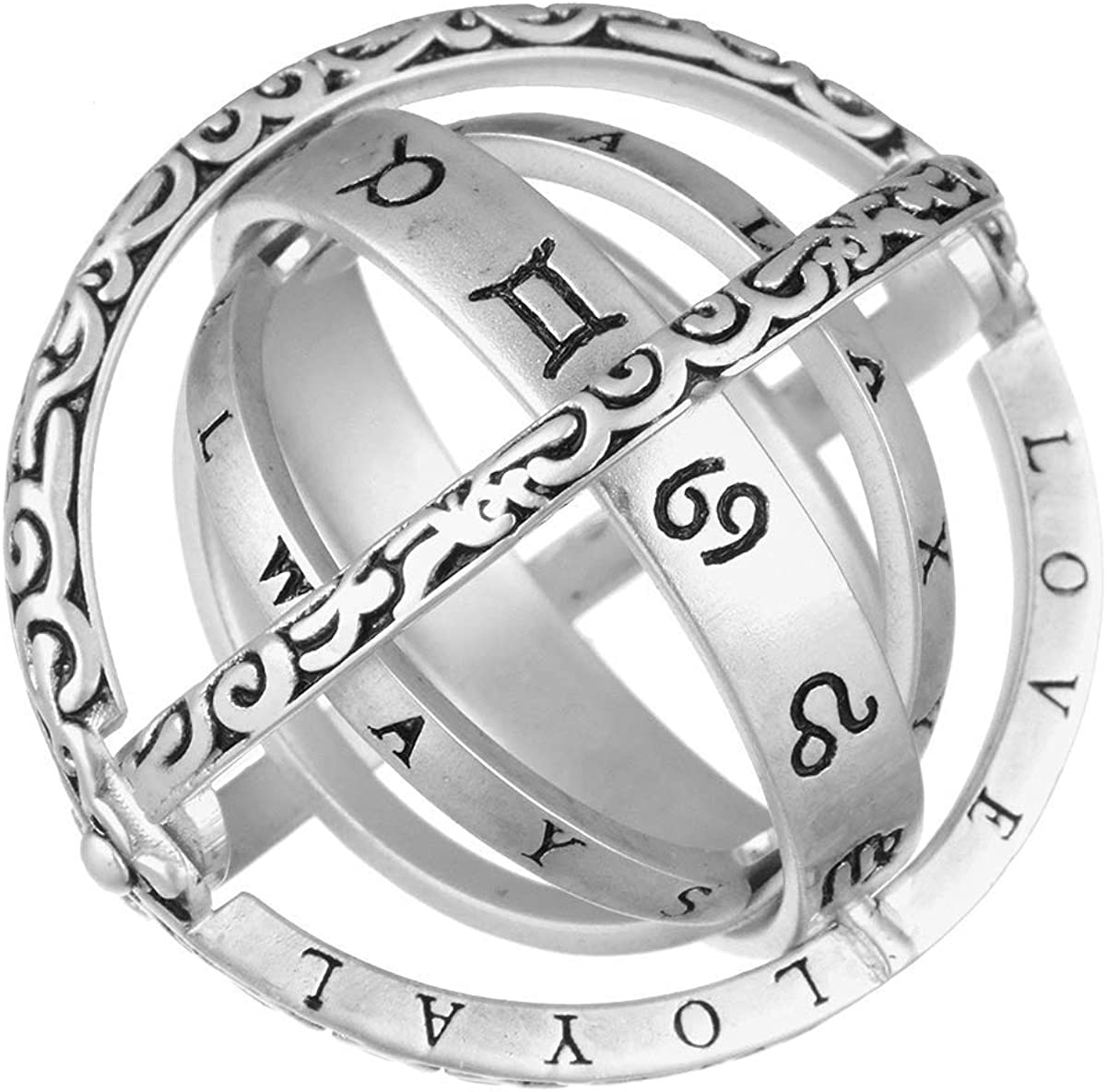 Laenshi Astronomical Sphere お求めやすく価格改定 Couple Silver Ring and for F Him ついに再販開始 Her