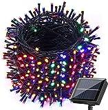 Moxled Solar Christmas Fairy Lights, 121ft 350 LED...