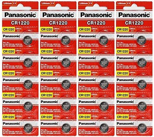 Panasonic CR 1220 Lithiumbatterie,3V, 4 Packungenx5 Stück, insgesamt 20 Einwegbatterien