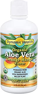 Dynamic Health Organic Aloe Vera Juice, Orange Mango Flavor | No Added Sugar, Artificial Color or Sweeteners, No Gluten or...