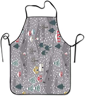 Toin DIY Christmas Fabric Cotton Etsy Fabric by The Yard Adjustable Bib Apron Resistant Cooking Kitchen Restaurant Bar Apron Black Aprons Chef Apron Unisex Aprons for Women Men