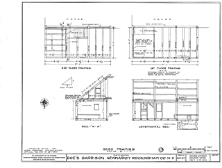 Historic Pictoric Blueprint Diagram HABS NH,8-NEWM,1- (Sheet 11 of 23) - Doe Garrison, Lamprey River & Great Bay, Newmarket, Rockingham County, NH 20in x 16in