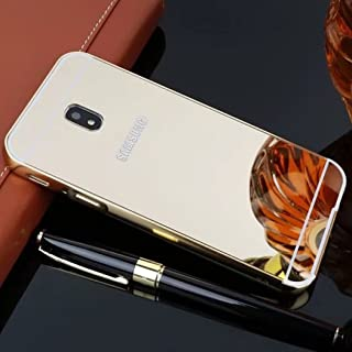 Galaxy 2017 J5/J5 Pro Shell, Shiny Awesome Make-up Mirror Plated Aluminum Metal Frame Bumper Slim Cover, TAITOU Cool 2 in ...