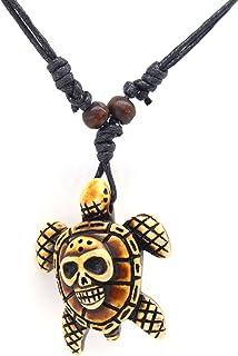 Scddboy Hawaiian Sea Turtle Pendant Necklace for Men Women