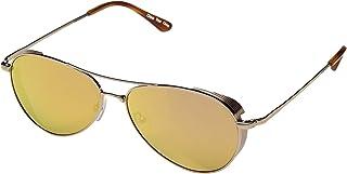 Toms Kilgore 301 10013134 Unisex Gold Frame Shiny Rose Gold Mirror Lens Aviator Sunglasses