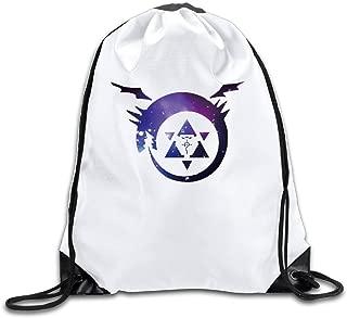 Full Metal Alchemist Sports Drawstring Backpack For Men & Women