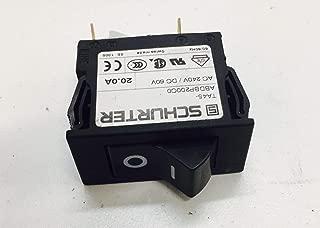 Cybex Power Entry Rocker Switch 240v Schurter Works Treadmill 750t 751t 770t 625t 650t