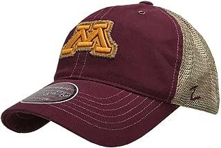 Zephyr Hats University of Minnesota M Tatter Hat NCAA College Ball Cap Mesh Maroon