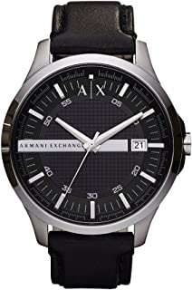 Armani Exchange Men's AX2101  Silver  Leather Watch