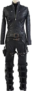Women's Cosplay Costume Black PU Leather Outfit Suit