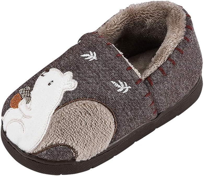 Chaussons Enfants Fille Garcon Pantoufle Peluche Animaux Dinosaure Slippers Chaussons B/éb/é Antid/érapant