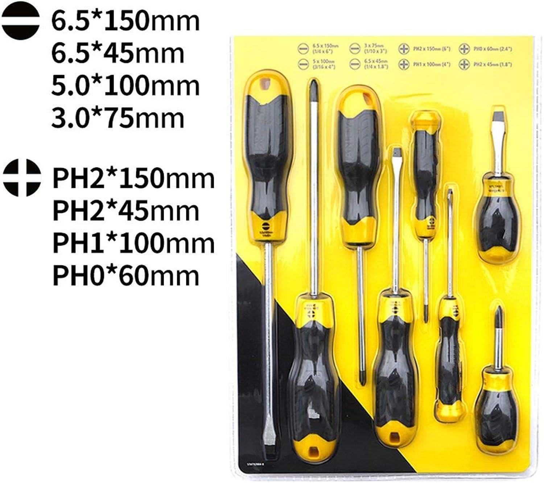 LCCMJCK Schraubendreher Schraubendreher Set Industriequalität Schraubendreher Set Super Hard Elektriker Werkzeugkasten, Set 8 B07JLX848F | Speichern