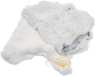 Springfield Leather Company Natural White Craft Grade Rabbit Fur Pelt