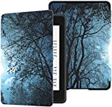 Colorful Star Smart Case for Kindle Paperwhite 10th Generation 2018 - PU Leather Kindle Paperwhite Covers for All-New Kindle Paperwhite E-Reader - Forest Evening