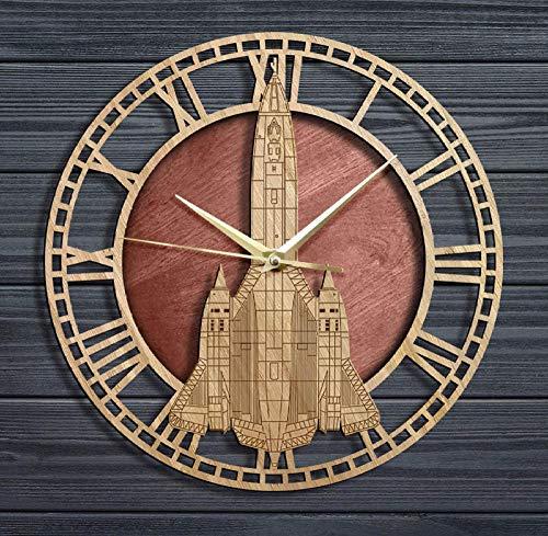 Reloj de Pared de Madera de aviación de mirlo, piloto de avión, decoración del hogar, avión de la Fuerza aérea, Movimiento silencioso, Reloj de Pared, Regalo Militar
