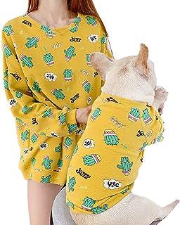 Zhyaj Huisdier hondenjas voor kleine en middelgrote honden, huisdier sweatshirt ouder-kind-set, tweebenige hondenkleding, ...