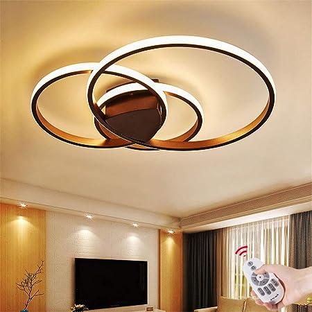 Schwarze, A-40CM LED Deckenleuchte//Deckenlampe Dimmbar Wohnzimmerlampe mit Fernbedienung Modern Ring Rund Designer-Lampen Metall Acryl Kronleuchte f/ür Esstisch Schlafzimmer K/üche B/üro Bad Lampe