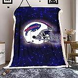 Manta de forro polar con diseño de equipo de fútbol americano, tamaño doble, de Buff-alo-Bil-ls, manta decorativa de microfibra para decoración de cama, 152,4 x 127 cm
