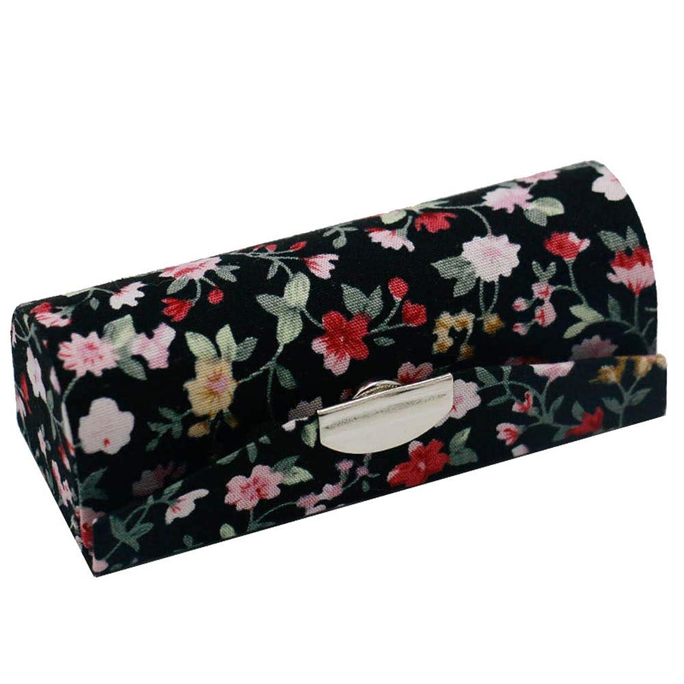 化石割合キャメルC-Weiwei 和雑貨 かわいい 和小物 プレゼント 口紅ケース 母の日 さくら 桜 ギフト (Cブラック)