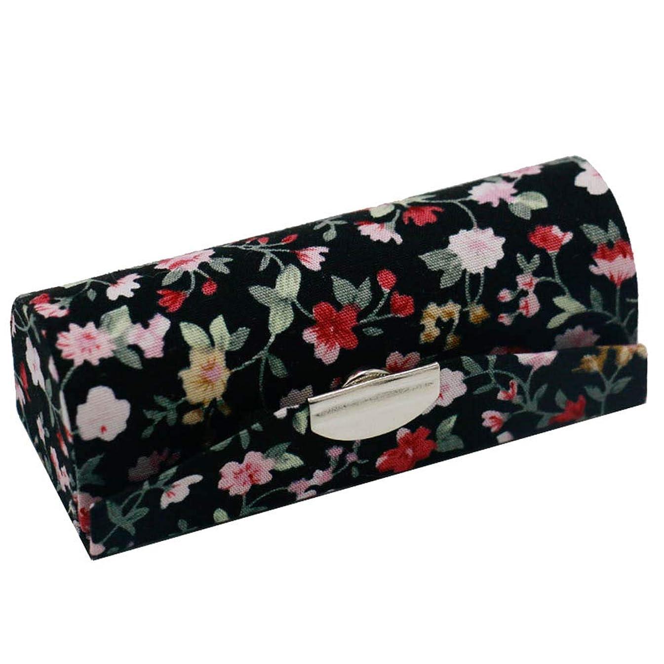 空地区承認C-Weiwei 和雑貨 かわいい 和小物 プレゼント 口紅ケース 母の日 さくら 桜 ギフト (Cブラック)