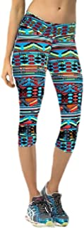 Xswsy XG Women Leggings Pants Casual Slim Fit Floral Capri-Pants Yoga Pants