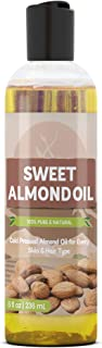 Sweet Almond Oil (8 fl oz) by Pure Ingredients, Improve Overall Skin Complexion, For Fine Lines & Wrinkles, Relieve Dry & ...