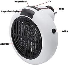 WQMMD Mini Calentador portátil Calentador de Aire para Oficina en casa Pantalla LED Baño - Radiador-Blanco